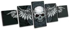 Gothic Skull Wings Illustration - 13-0072(00B)-MP07-LO